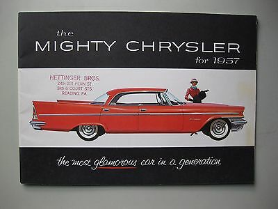 Chrysler prestige brochure Prospekt English language 1957