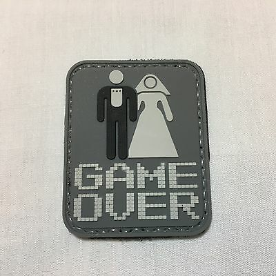 Game Over - morale patch hoop and loop velcroed badge military tactical milsim