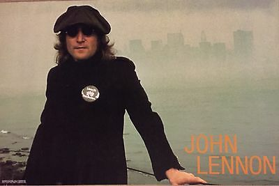 Beatles John Lennon Import Poster Listen To This Button Twin Towers Mint