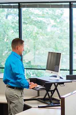 Stand Up Desk Store AirRise Pro - Height Adjustable Standing Desk Converter, Sta