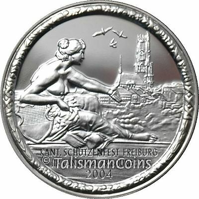 Switzerland 2004 Fribourg Shooting Festival 50 Swiss Francs Thaler Silver Proof