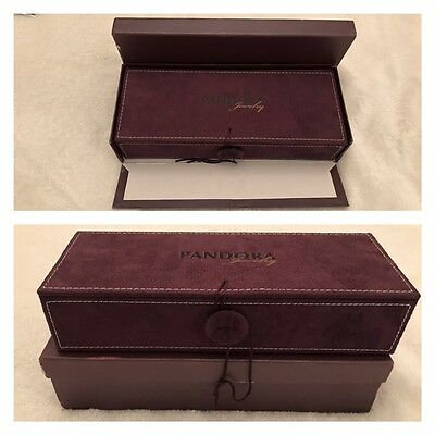 Pandora Very Rare Limited Edition 3 Tier Purple Suede Jewellery Box