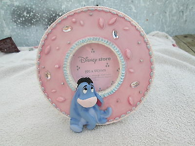 Disney Store 3D Eeyore on a pink frame 5 ins in height