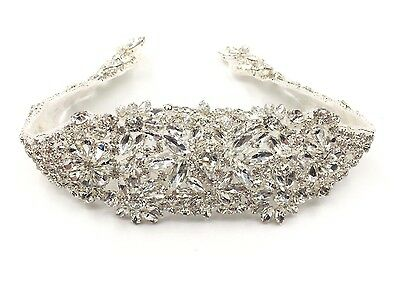 Stunning, A Grade Bridal Sash, Crystal Wedding Sash Belt, Rhinestone Belt