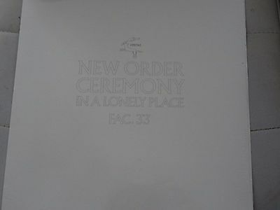 """New Order Joy Division Ceremony In A Lonely Place Limited sealed 12"""" RSD FAC.33"""