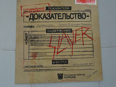 "SLAYER Psychopathy Unopened still sealed Limited transparent red vinyl 7"" MINT"