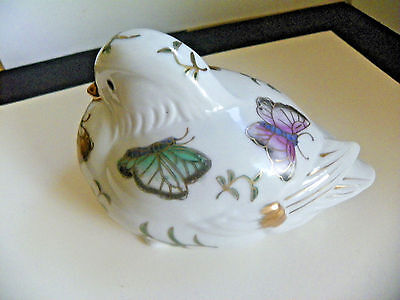 Vintage Andrea by Sadek Porcelain Sitting Dove/Bird  with Butterflies Figurine