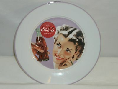 "Coca Cola Vintage Style Ladies Ceramic 8"" Plate"