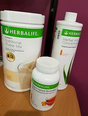 Herbalife F1, Fat burning tea and Aloe! all flavours available