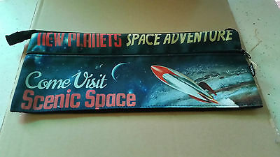 Space Adventure Pencil Case, Scenic Space, Planets, Moon, Rockets, Earth, Fly