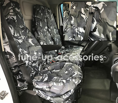 Renault Trafic Van Seat Covers Camouflage Dpm Camo Grey Heavy Duty 2-1
