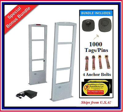 EAS Checkpoint Compatible Anti Theft Door / Gate Security System +1000 Tag +Tool
