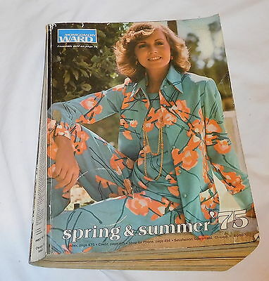 vintage Montgomery Wards Ward  Spring and Summer 1975 Catalog 1203 pages