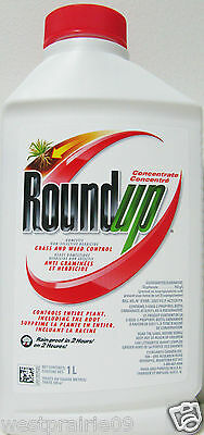 1L Roundup Concentrate Non-Selective Grass Weed Control Herbicide Killer