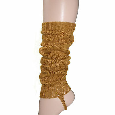 100% Alpaca Wool Knit Leg Warmers for Girls ~ Goldenrod Legwarmers Accessories