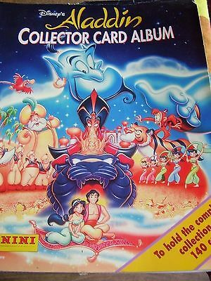 Rare Panini Walt Disney Aladdin Collector Card Album Book  With All Cards