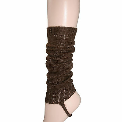 100% Alpaca Leg Warmers for Girls ~ Cocoa Brown Legwarmers Accessories