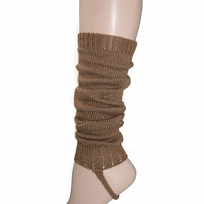 100% Alpaca Wool Knit Leg Warmers for Girls ~ Camel Legwarmers Accessories