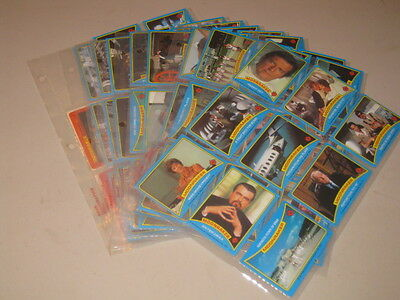 MOONRAKER - James Bond Trading Cards 74 Cards + 6 Stickers - Mint Cond. Sleeved
