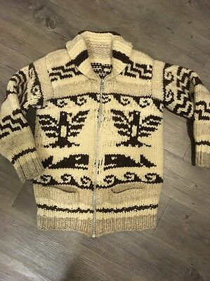 Cowichan Sweater from British Columbia Canada Whale Thunderbird Patter Unisex