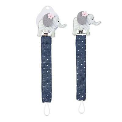 Mud Pie Elephant Pacifier Clip - DISCONTINUED