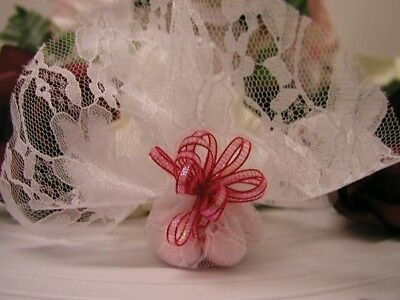 Lace Tulle Circles - White x 50 Wedding & Event DIY Decoration
