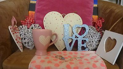 Job Lot of decorative hanging hearts/love/ items plus other bits n bobs!