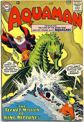 AQUAMAN #9 1963 FN- King Neptune WINGED SEAHORSE COVER