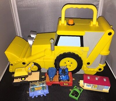 Bob The Builder Lot 8 Die Cast Toys Vehicles Scrambler ~ Scoop Carrying Case