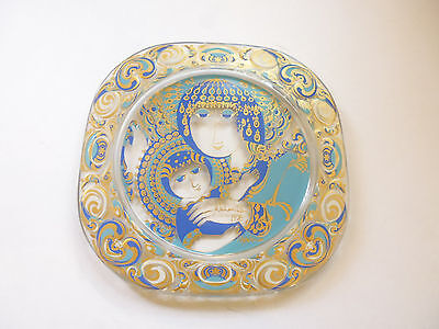 Rosenthal Christmas plate in Glass by Wiinblad 1976