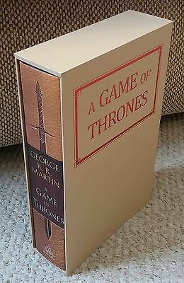 A Game Of Thrones SIGNED Illustrated Edition 20th Anniversary. George R R Martin