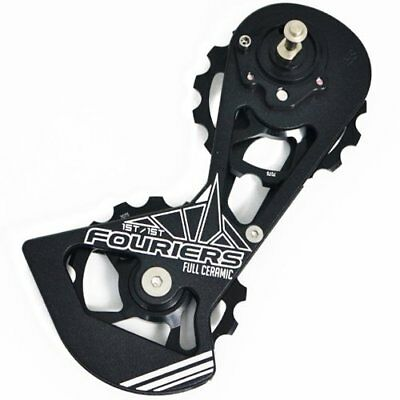 FOURIERS Full Ceramics Derailleur Cage w/ Pulley Drivetrain For SRAM Red , Black