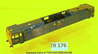 tr176)triang oo s/h spare class em2 electric br blue decorated bodyshel nr xclnt