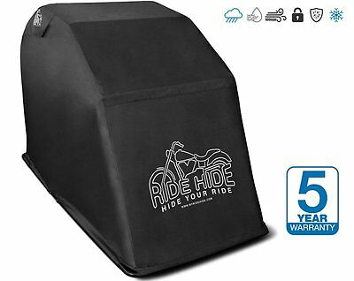 Waterproof Motorcycle Shelter Scooter Bike Mini Garage Cover Fully Vented Hard