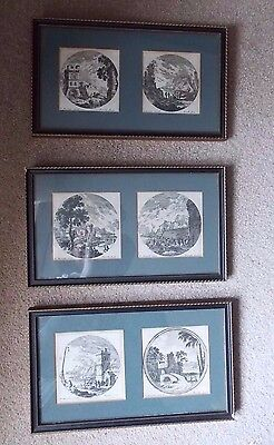 Collection c18th Mariette Engravings c17th Drawings by Perelle Vintage Frames