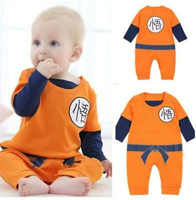 Baby Kids Toddler Dragon Ball Z Son Goku Jumpsuit Outfit Cosplay Costume Dress