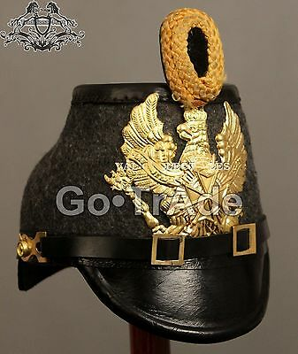 Prussian Jager Enlisted Shako Leather Helmet Go.TrAde