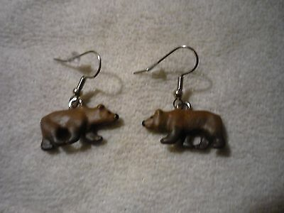 Grizzly Bear Ear Rings