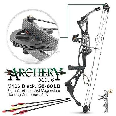 50-60lbs Left & Right Handed Magnesium Alloy Compound Bow Archery Hunting Archer