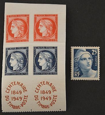 FRANCE TIMBRES 1949-YT 830 à 831 X2 + 832 Neuf ** LUXE