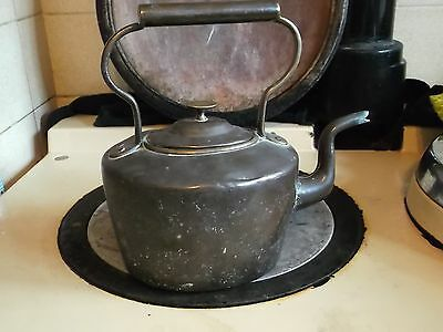 Antique Hand Crafted  Bass Copper  Kettle & stand