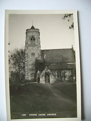(149) Vintage unused post card of North Cotes Church, near Grimsby, Lincolnshire
