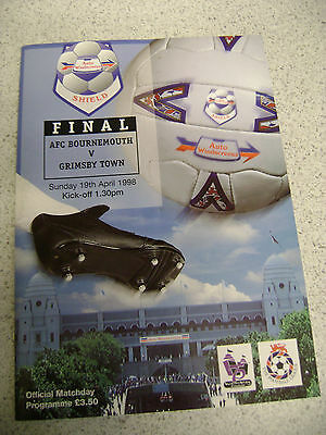 (018) Northampton Town v Grimsby Town, Wmbley May 1998 + Ticket