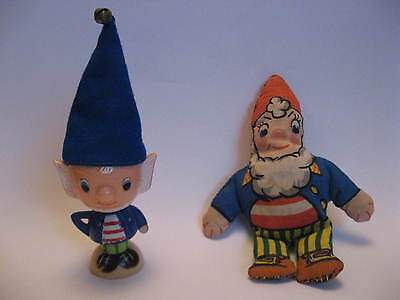 Vintage BIG EARS 1960s EGGCUP & SOFT TOY DOLL Retro Noddy Childrens Character
