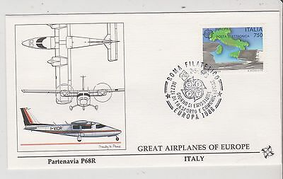 Italy  - FDC's - Great Airplanes of Europe - Europa 1988  (G77)