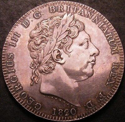 1820 2 over 1 George III Crown CGS Slabbed coin
