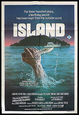 THE ISLAND One Sheet Original Movie poster Michael Caine David Warner