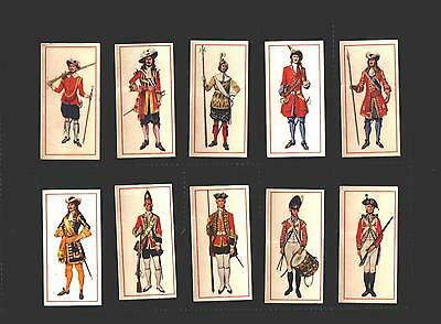 cigarette cards military uniforms soldiers full set