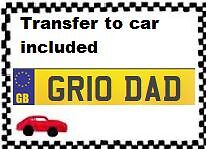 GREAT DAD FATHER GRANDAD = Private Personalised Cherished Number Plate