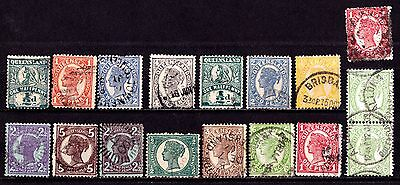 Australia / Queensland Stamps. 1897-1909 QV ½d - 6d Issues. Used. #2968